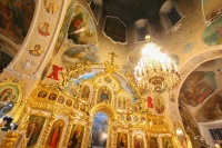 Митрополит Орловский и Болховский Тихон совершил всенощное бдение в канун дня памяти апостола и евангелиста Матфея в Богоявленском соборе города Орла. 28 ноября 2020 г.