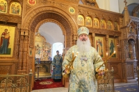 В день празднования Иверской иконе Божией Матери митрополит Орловский и Болховский Тихон совершил Божественную литургию в храме Иверской иконы Божией Матери города Орла. 25 марта 2021 г.