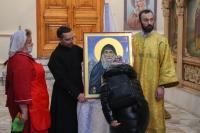 Митрополит Орловский и Болховский Тихон освятил икону святого Гавриила (Ургебадзе), написанную для Успенского собора Орла. 28 февраля 2021 г.