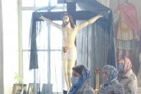 В родительскую субботу митрополит Орловский и Болховский Тихон совершил заупокойную Литургию в Никитском храме с. Солнцево. 3 апреля 2021 г.