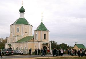 Освящение Вознесенского храма с. Малиново. 2005 г.