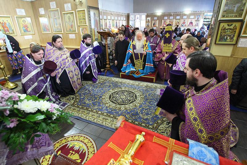 Владыка Тихон возглавил всенощное бдение в Знаменском храме Орла накануне престольного праздника